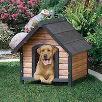 Precision Pet Extreme Outback Country Lodge Brown/Black Wood/Stainless Steel Dog House