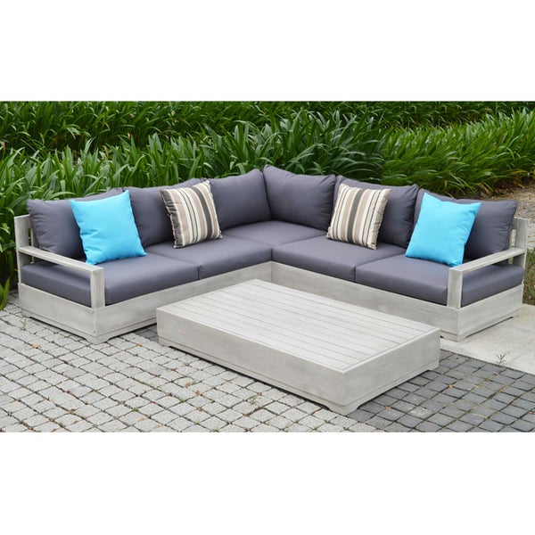 OVE Decors Beranda Outdoor 3 Piece Patio Sectional Set