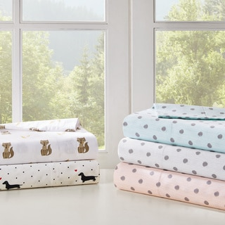 HipStyle Polka Dot Cotton Printed Percale Sheet Set 3 Color Option