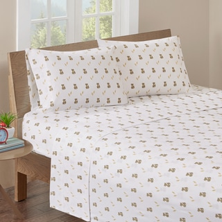 HipStyle Bashful Vixie Multi Cotton Printed Percale Sheet Set