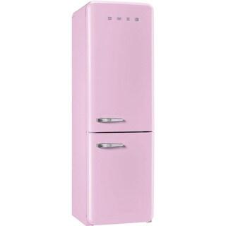 Smeg 50s Retro-Style Right-Hand Hinge Pink Bottom Freezer 11.7 Cu.Ft. Refrigerator