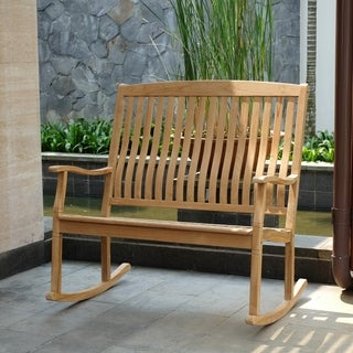 Sherwood Teak Loveseat Rocker