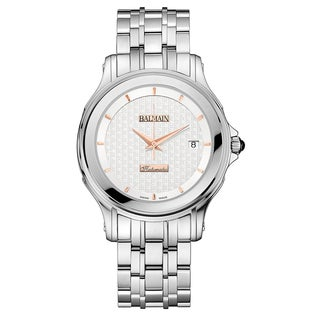 Balmain Men's Eria Silver Stainless Steel Watch with Silver Strap