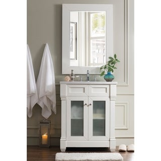 Weston 30-inch Arctic Fall Top Cottage White Single Vanity