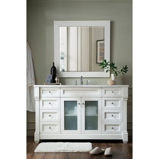 Weston 60-inch Arctic Fall Top Cottage White Single Vanity