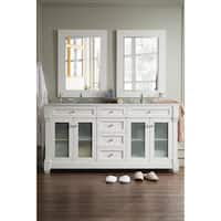 Weston 72-inch Arctic Fall Top Cottage White Double Vanity