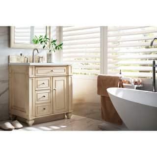 bristol 30 inch snow white top vintage vanilla single vanity - Bathroom Vanity 30 Inch