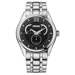 Balmain Silver Stainless Steel Watch with Black Dial