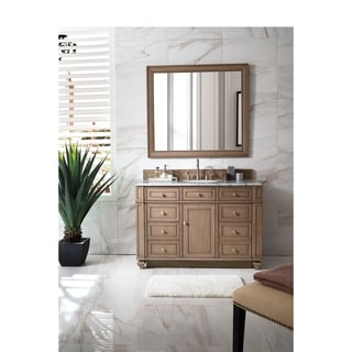 Bristol 48 Inch White Washed Walnut Single Vanity