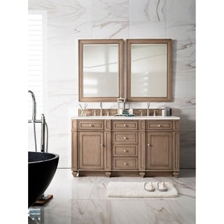 Bristol 60-inch White Washed Walnut Double Vanity