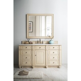 Bristol 60-inch White Washed Walnut Single Vanity