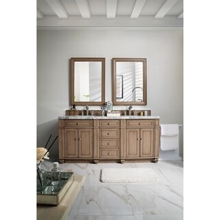 "Bristol 72"" Double Vanity, White Washed Walnut"