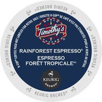 Timothy's Rainforest Espresso Extra Bold Coffee, K-Cup Portion Pack for Keurig Brewers