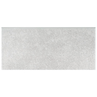 SomerTile 3.5x7.75-inch Thirties Grey Ceramic Bullnose Floor and Wall Trim Tile (5/Pack, 0.97 sqft.)