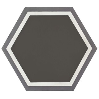 SomerTile 7.875x9-inch Cement Hex Holland Passage Cement Floor and Wall Tile (12/Case, 3.96 sqft.)