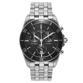 Certina DS Men's First C014-417-44-081-00 Silver Strap with Dark Grey Dial Titanium Watch