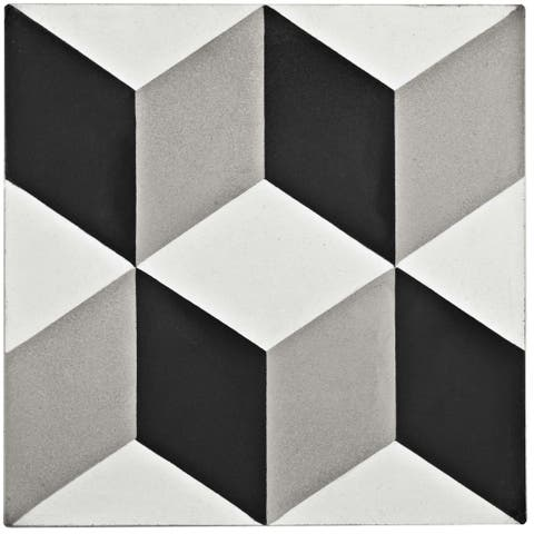 SomerTile 7.875x7.875-inch Cement Lloyd Classic Cement Floor and Wall Tile (12 tiles/5.5 sqft.)