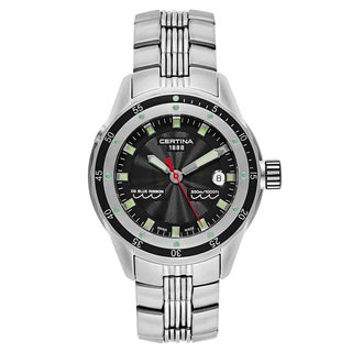 Certina Men's Black and Green Dial Stainless Steel Watch - Black/Green