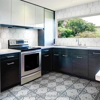 SomerTile 7.875x7.875-inch Cement Empress Ocean Cement Floor and Wall Tile (12/Case, 5.5 sqft.)