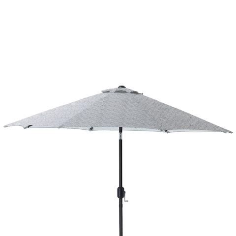 Pillow Perfect Herringbone Slate 9-foot Patio Market Umbrella