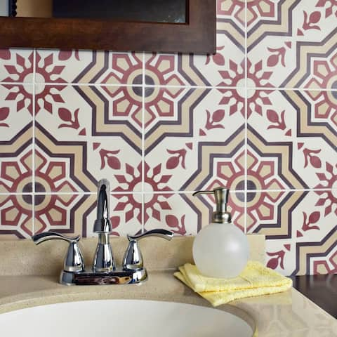 SomerTile 7.875x7.875-inch Cement Ellis Sunset Cement Floor and Wall Tile (12 tiles/5.5 sqft.)
