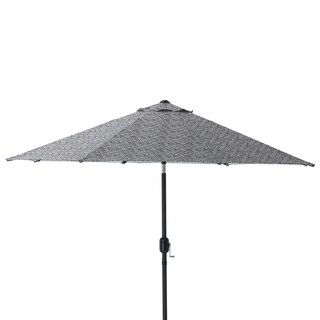 Pillow Perfect Herringbone Night 9-foot Patio Market Umbrella