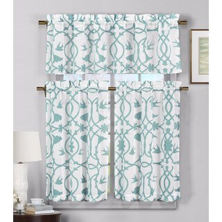 Duck River 'Dawn' Faux Linen Kitchen Curtain (4 options available)