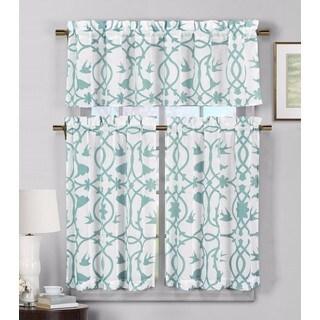 Duck River 'Dawn' Faux Linen Kitchen Curtain