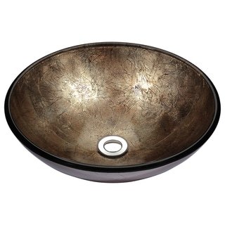 Stellar Series Platinum Storm Deco-Glass Vessel Bathroom Sink
