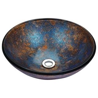 Stellar Series Sapphire Burst Deco-Glass Vessel Sink