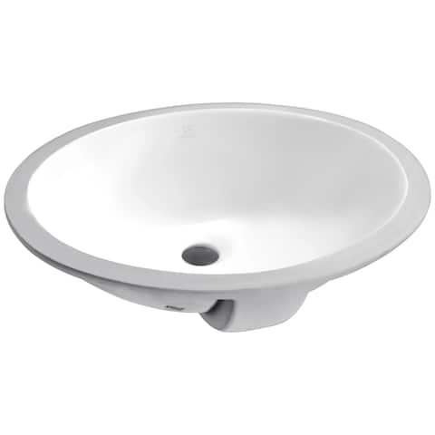 ANZZI Lanmia Series 19.5 in. Ceramic Undermount Sink Basin in White
