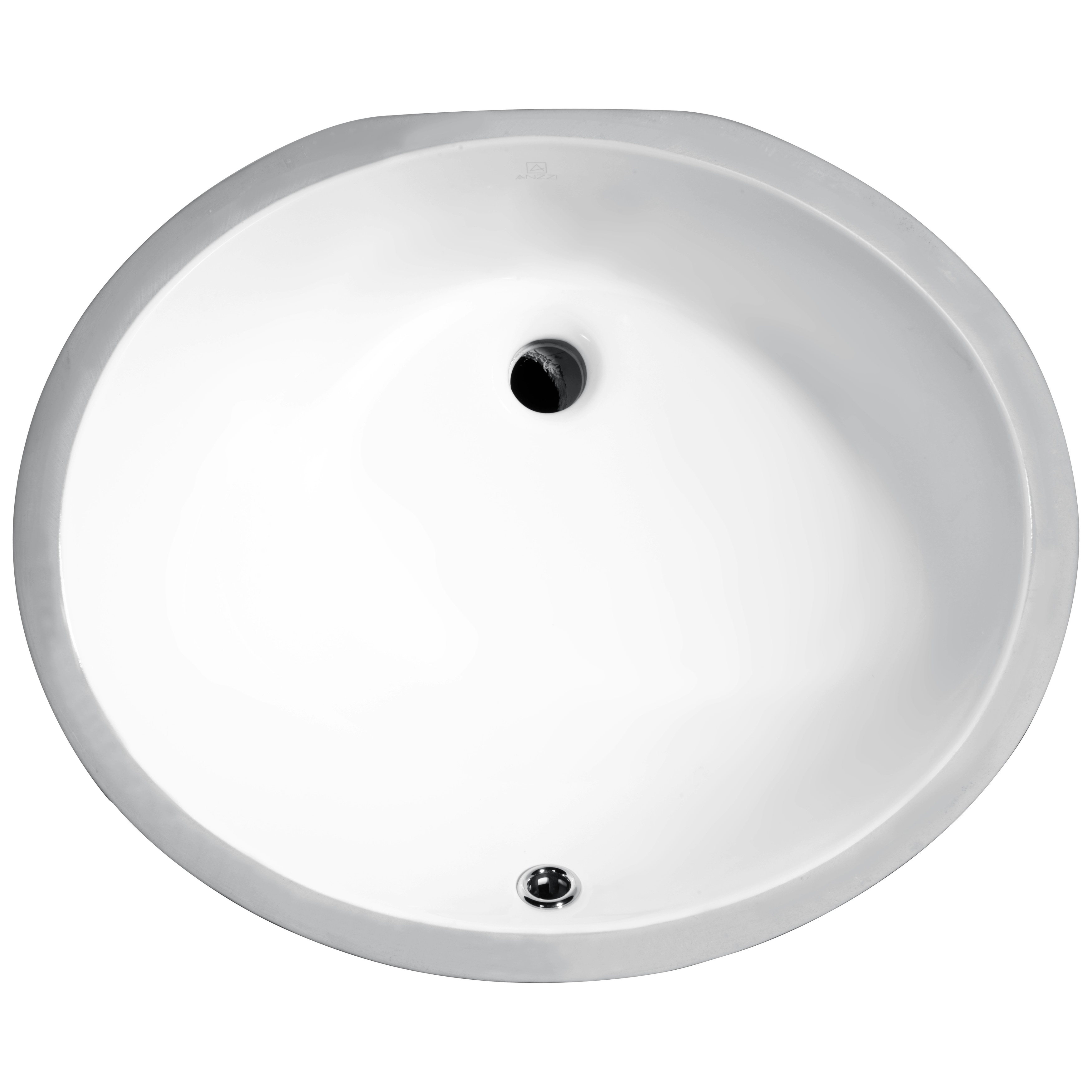 Anzzi Pegasus Series White Ceramic Undermount Basin Bathr...