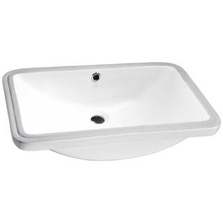 Lanmia Series White Ceramic Undermount Sink Basin