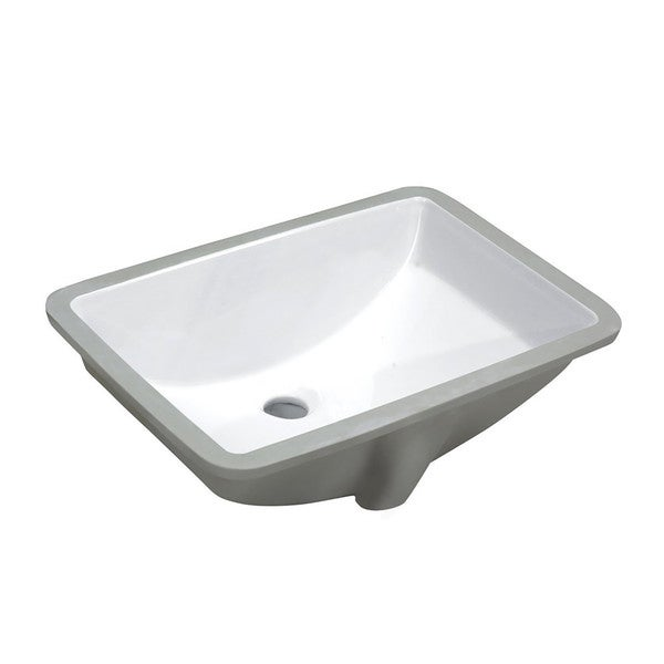 Charmant Ceramic Undermount Sink Basin In White