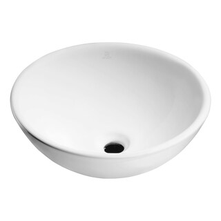 Deux Series Ceramic Vessel Sink in White