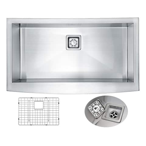 "ANZZI Elysian 36"" Farmhouse Single Basin Kitchen Sink"