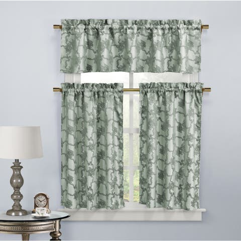 Duck River Gala Floral Kitchen Curtain Tier