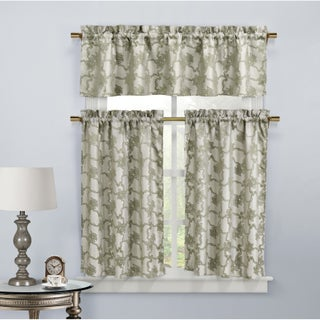 Duck River Gala Floral Kitchen Curtain Tier (Option: taupe)