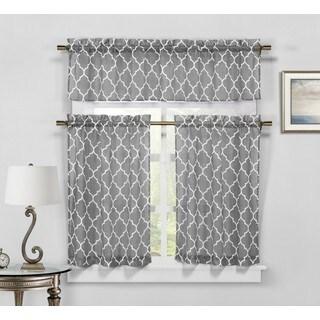 Duck River Geo Faux Linen Kitchen Curtain