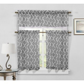 Duck River Geo Linen Kitchen Curtain Tier