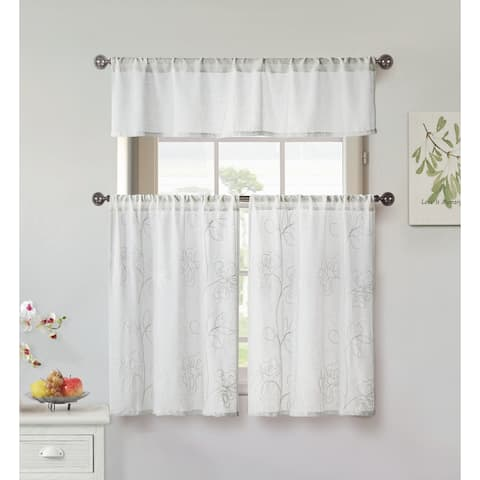 Duck River Katness 3-Piece Kitchen Curtain Tier