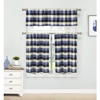 Kingsville Homemaison Striped Curtain (3-piece Set)