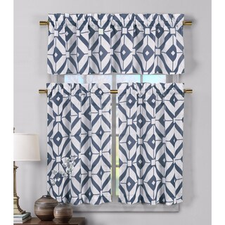 Duck River Mckenna Linen Kitchen Curtain Tier - 29 x 36 (2 options available)