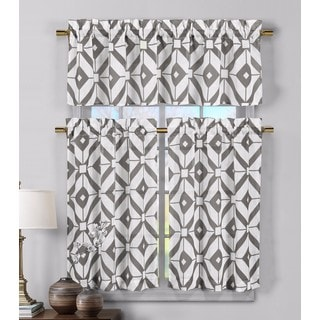 Duck River 'Mckenna' Faux Linen Kitchen Curtain