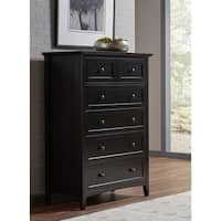 Paragon Black Wood 5-Drawer Chest