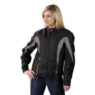 Ladies Textile Jacket With Side Stretch & Lacing