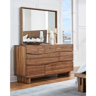 Ocean Natural Sengon Wood 6-Drawer Dresser