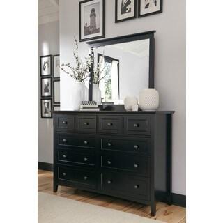 Paragon Black Eight Drawer Dresser