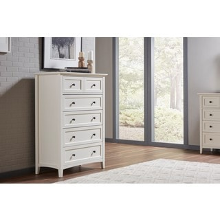 Paragon White Five Drawer Chest