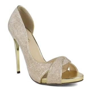 Celeste Lily-02 D'Orsay Women's Peep-toe Dress Sandals